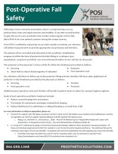 Post-Operative Fall Safety
