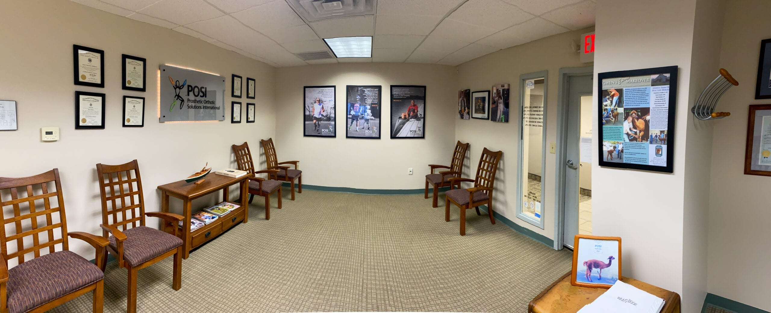 prosthetic orthotic solutions international waiting room